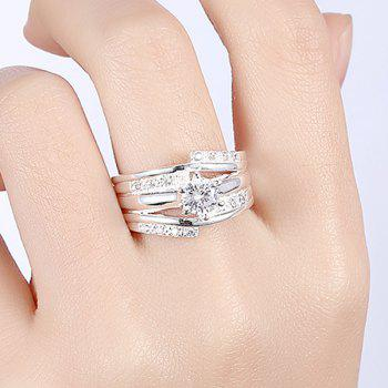 Bague Multi-couches en Strass - SILVER 7