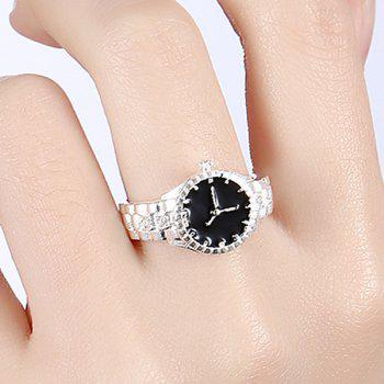 Rhinestone Watch Shape Ring