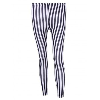 Striped Bodycon Leggings
