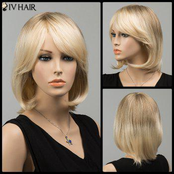 Gorgeous Side Bang Short Straight Siv Human Hair Wig - COLORMIX COLORMIX