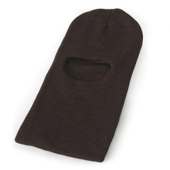 Knit Face Mask Neck Warmer Ski Cap - COFFEE