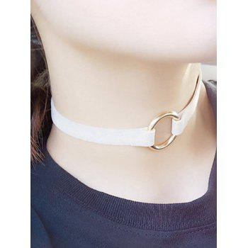 Copper Coil Velvet Strip Choker Necklace