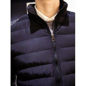 Zip Up Stand Collar Insert Padded Jacket - BLACK L