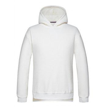 High Low Hem Side Split Pullover Hoodie