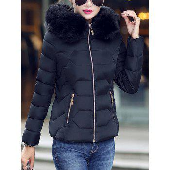 Faux Fur Hooded Padded Jacket