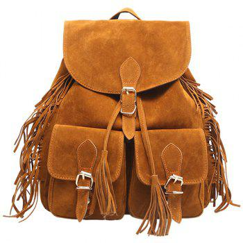 Buckles Tassels Drawstring Backpack