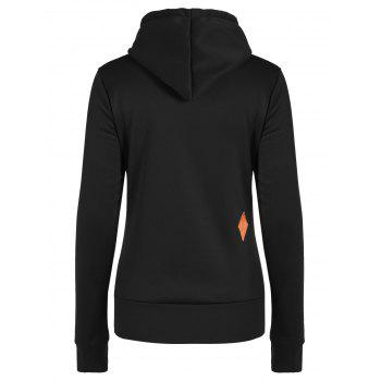 Hoodie Casual Patched - Noir M