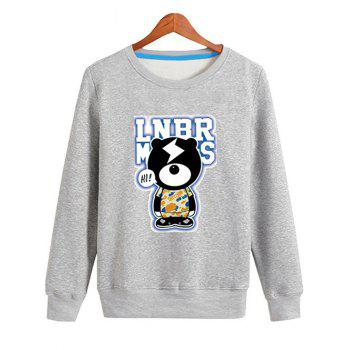Crew Neck Cartoon Graphic Sweatshirt