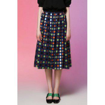 High Rise Polka Dot Midi Skirt