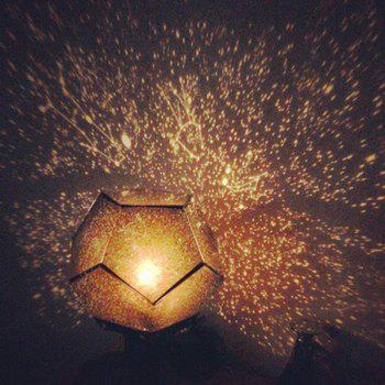Novelty Electronic Super Bright Four Seasons Star Sky Projector Lamp - YELLOW