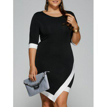 Plus Size Overlap Short Bodycon Bandage Dress