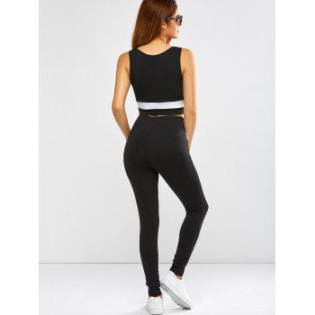 Active Panel Crop Tank Top and Pants - M M