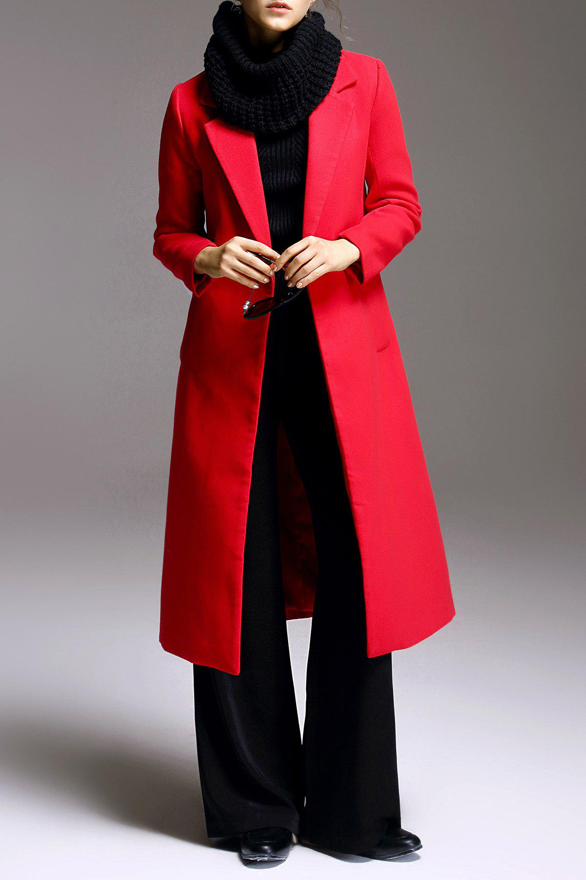 A-Line Fitting Woolen Coat