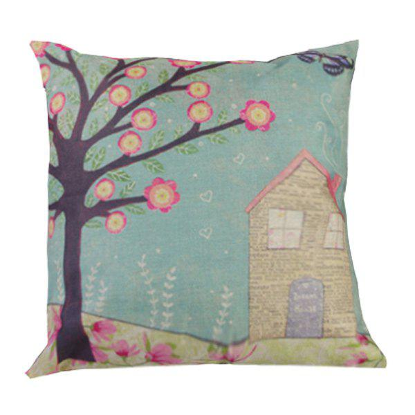 Home Decor Spring Floral Printed Cushion Linen Pillow Case new dc12v 4 relay ch momentary toggle latched rf remote control switch system wireless receiver