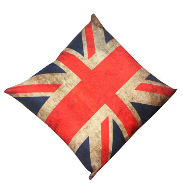 Home Decor England Flag Design Cushion Linen Pillow CaseHome<br><br><br>Color: BLUE