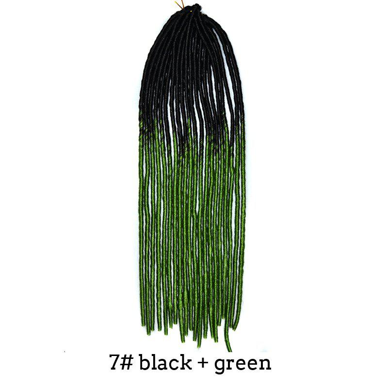 Stylish Heat Resistant Synthetic Two-Tone Ombre Dreadlock Hair Extension For Women -