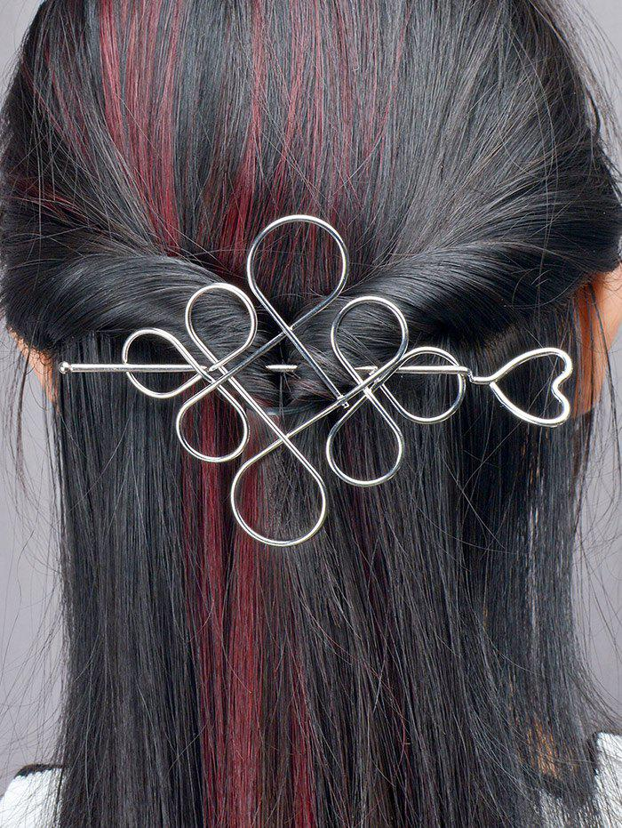 Évider noeud chinois Hairpin - Argent