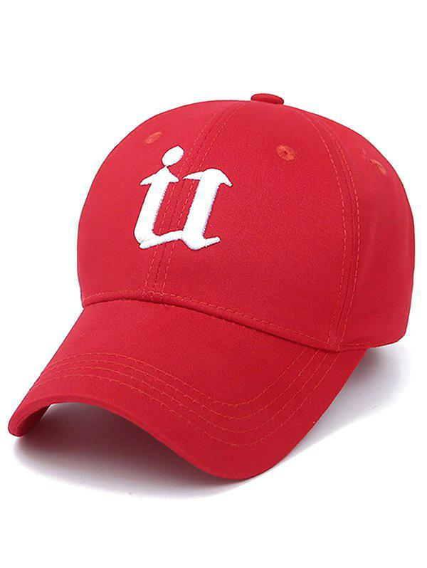 Embroidery U Letter Baseball CapAccessories<br><br><br>Color: RED