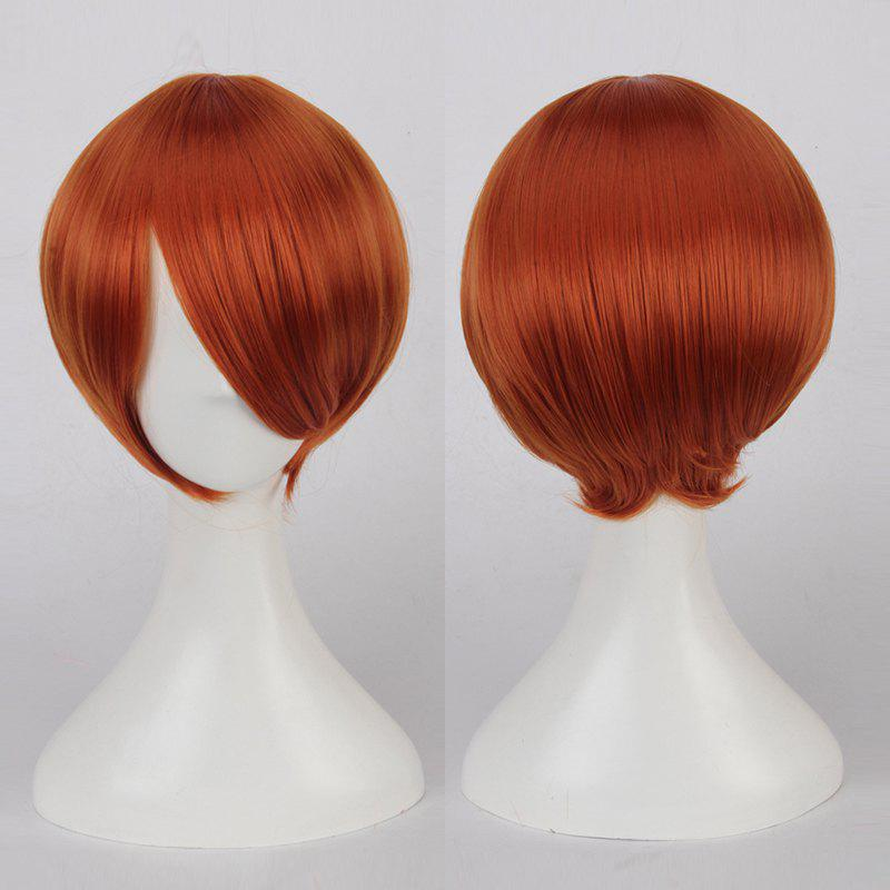 Multicolor Short Oblique Bang Straight Cosplay Synthetic Wig пульты программируемые oneforall essence tv urc7110