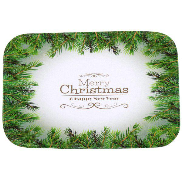 Antislip Merry Christmas Tree Room Decor Doormat Carpet tree print doormat