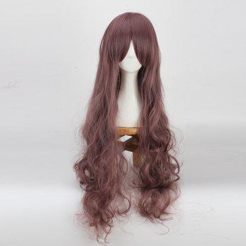 Long Bouffant Wavy Side Bang Cosplay Synthetic Wig - BRONZE