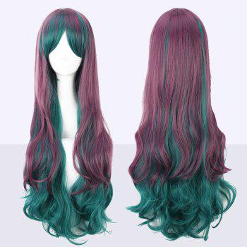 Ombre Color Long Bouffant Wavy Side Bang Cosplay Synthetic Wig