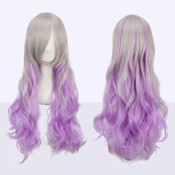 Long Wavy Side Bang Fairy Ombre Color Cosplay Synthetic Wig