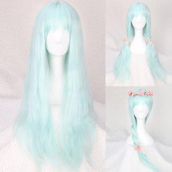 Long Slightly Curled Full Bang Fairy Cosplay Synthetic Wig