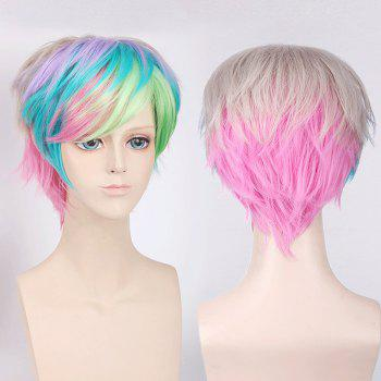 Short Side Bang Fluffy Colorful Straight My Little Pony Cosplay Synthetic Wig