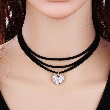 Heart Embellished Layered Choker