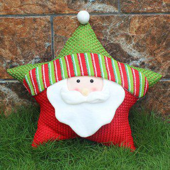Santa Claus Cushion Cover Christmas Star Pillow