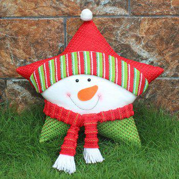Snowman Cushion Cover Christmas Star Pillow