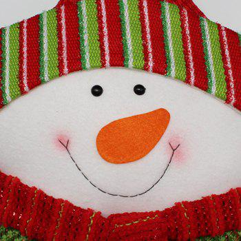 Snowman Cushion Cover Christmas Star Pillow - WHITE