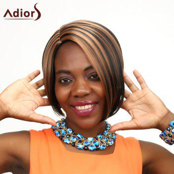 Adiors Side Parting Highlight Short Straight Synthetic Wig