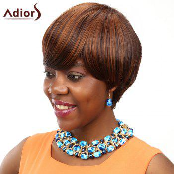 Adiors Colormix Short Straight Bob Oblique Bang Synthetic Wig