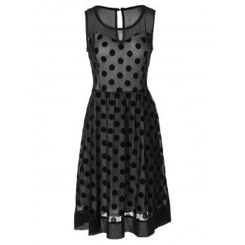 Vintage Polka Dot See Through Dress