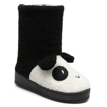 Flock Panda Patten Snow Boots