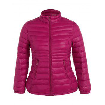 Plus Size Double Pocket Quilted Jacket
