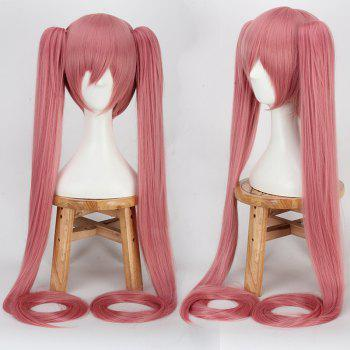 Long Straight with Bunches Full Bang Miku Cosplay Synthetic Wig