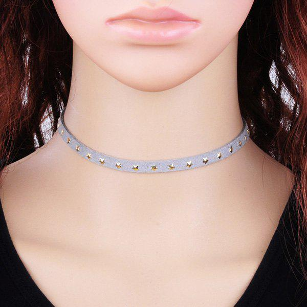 Little Star Velvet Choker - LIGHT GRAY