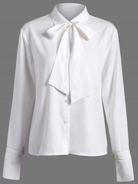 Plaine Bow Tie Shirt - Blanc S