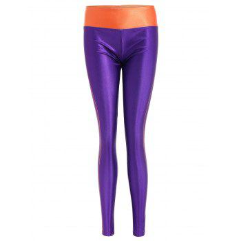 Color Block Stretchy Sports Pants