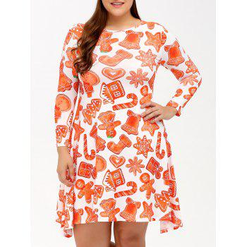 Plus Size Christmas Graphic Dress