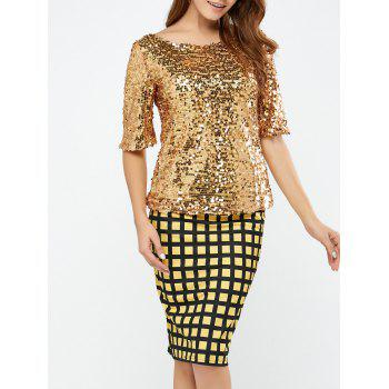 Sequined Short Sleeve Sparkly T-Shirt