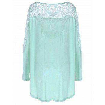 Lace Patchwork High Low Tee - CLOVER M