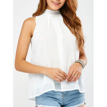 Cut Out Chiffon Tank Top