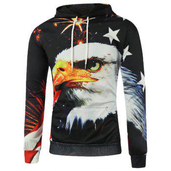 Firework Eagle 3D Print Pullover Hoodie