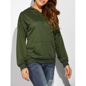 Casual Big Pocket Drawstring Hoodie