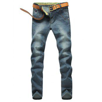 Zip Fly Mid Waisted Jeans in Tapered Fit
