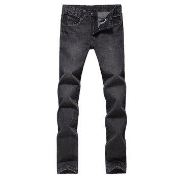 Slim Fit Low Waisted Zip Fly Jeans